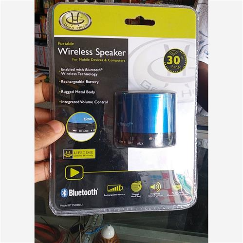 Gear Head Portable Wireless Speaker