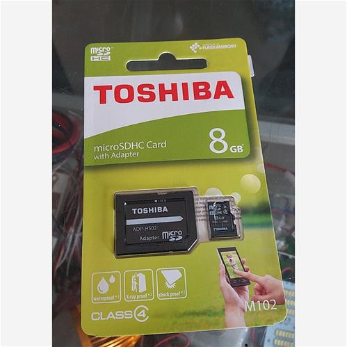 TOSHIBA 8GB Micro SD card (with Adapter)