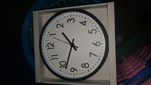 Black colour clock