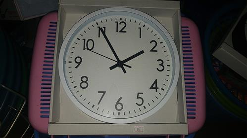 White colour clock