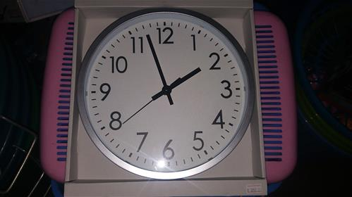Silver colour clock