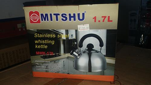 Mitshu whistling kettle 1.7L